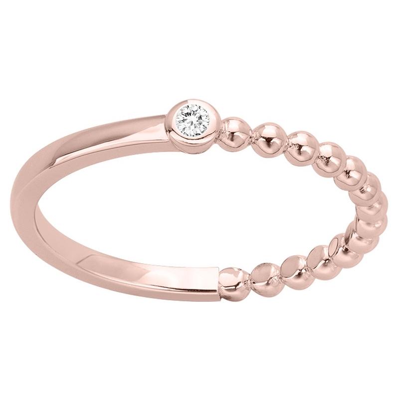 Bague Plaqué Or rose Femme La Garçonne Diamant