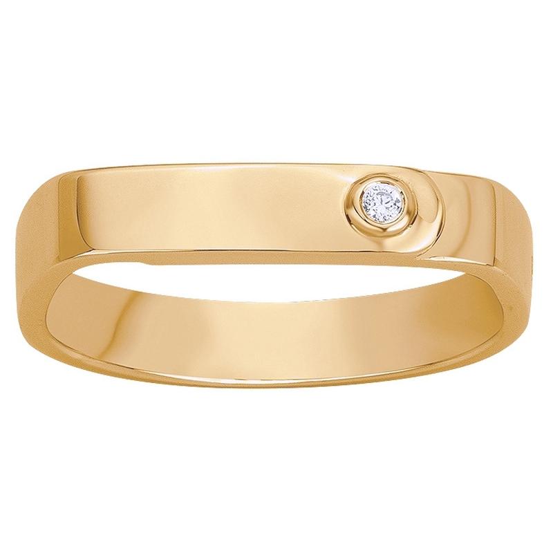 Bague plaqué or 750 millièmes jaune Femme La Garçonne Diamant