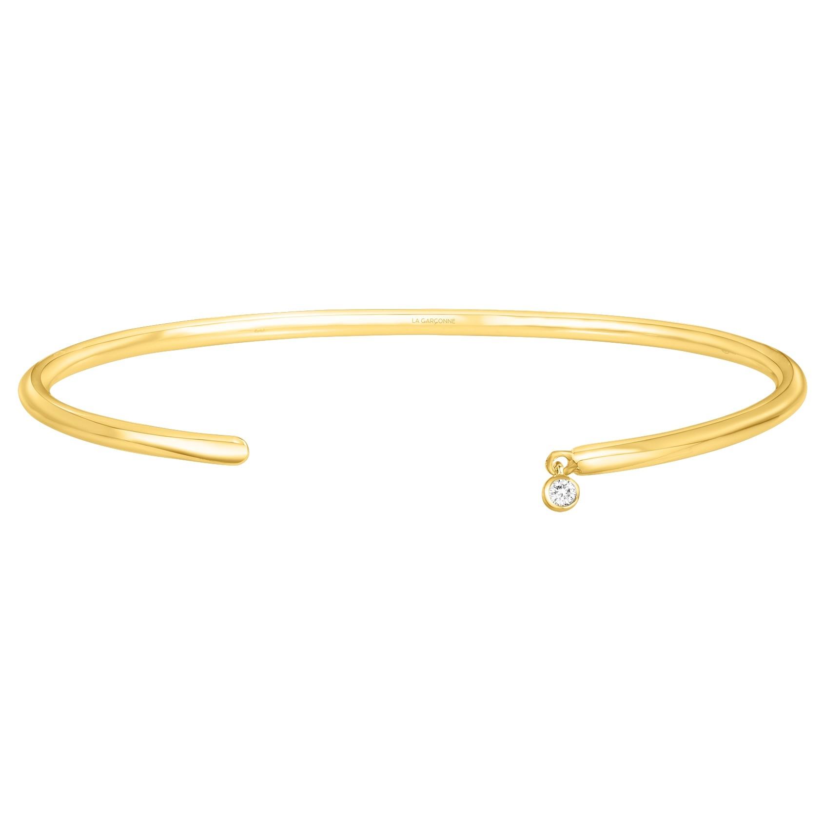 Bracelet plaqué or 750 millièmes Femme La Garçonne Diamant