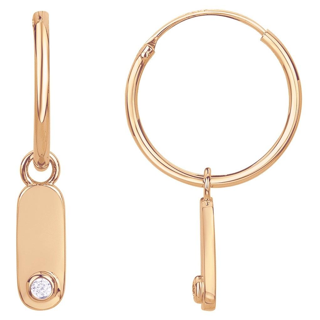 Boucles d'oreilles plaqué or 750 millièmes jaune Femme La Garçonne Diamant