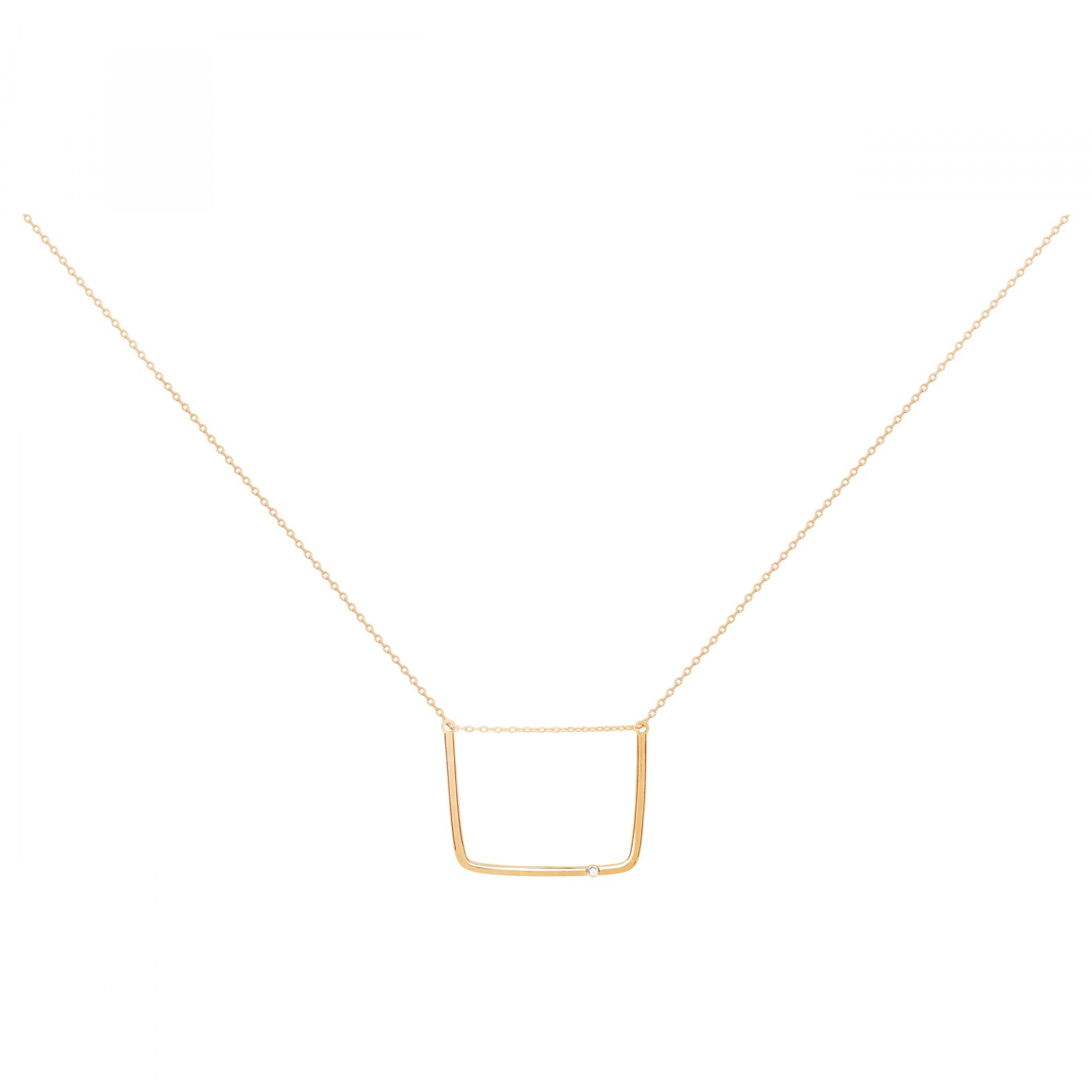 Collier plaqué or 750 millièmes Femme La Garçonne Diamant