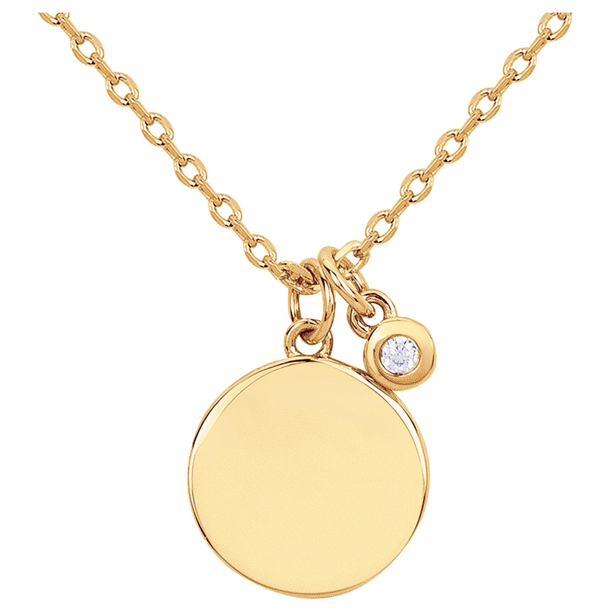 Collier plaqué or 750 millièmes jaune Femme La Garçonne Diamant