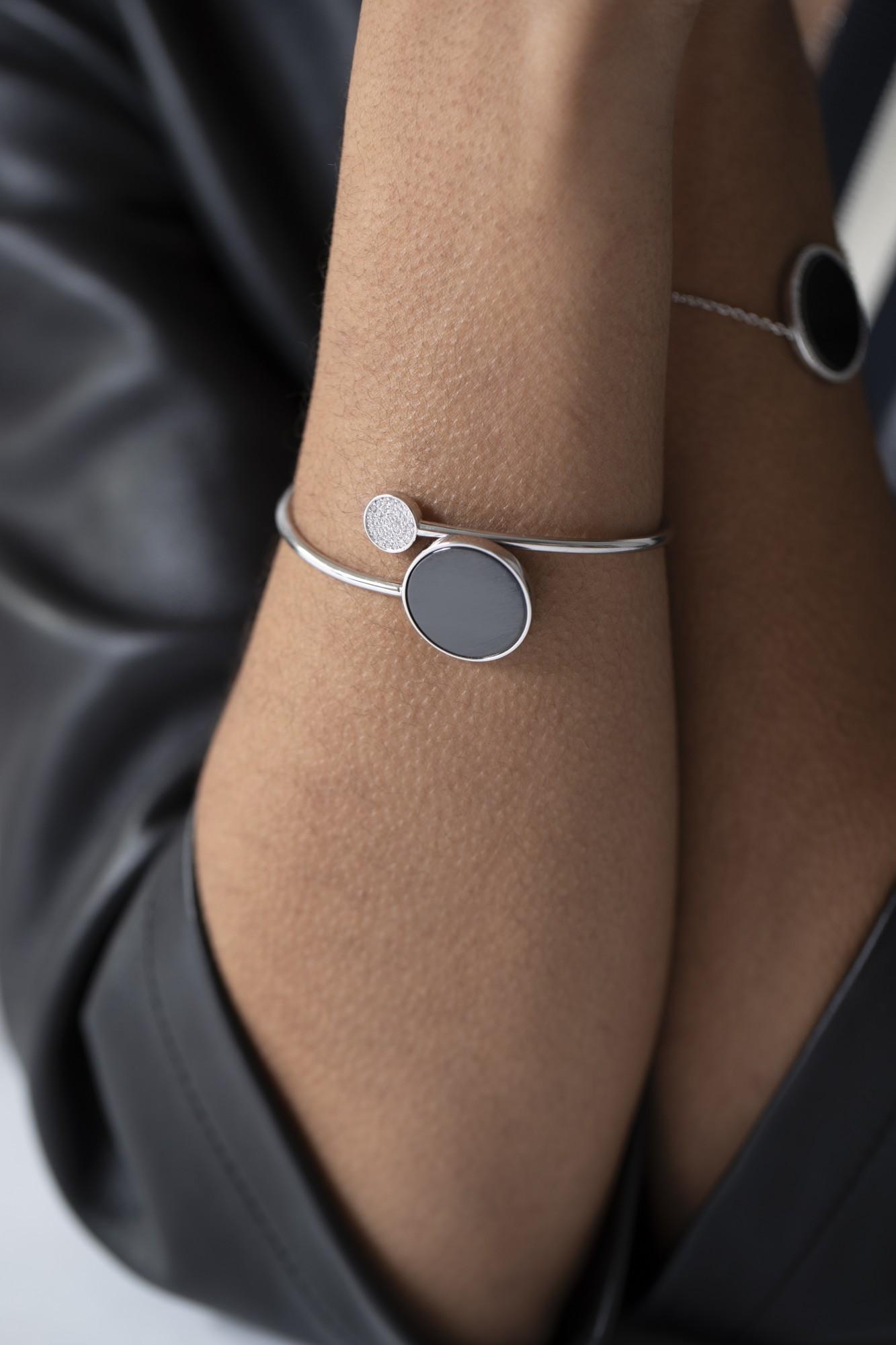 Bracelet argent 925 millièmes rhodié Femme CERANITY