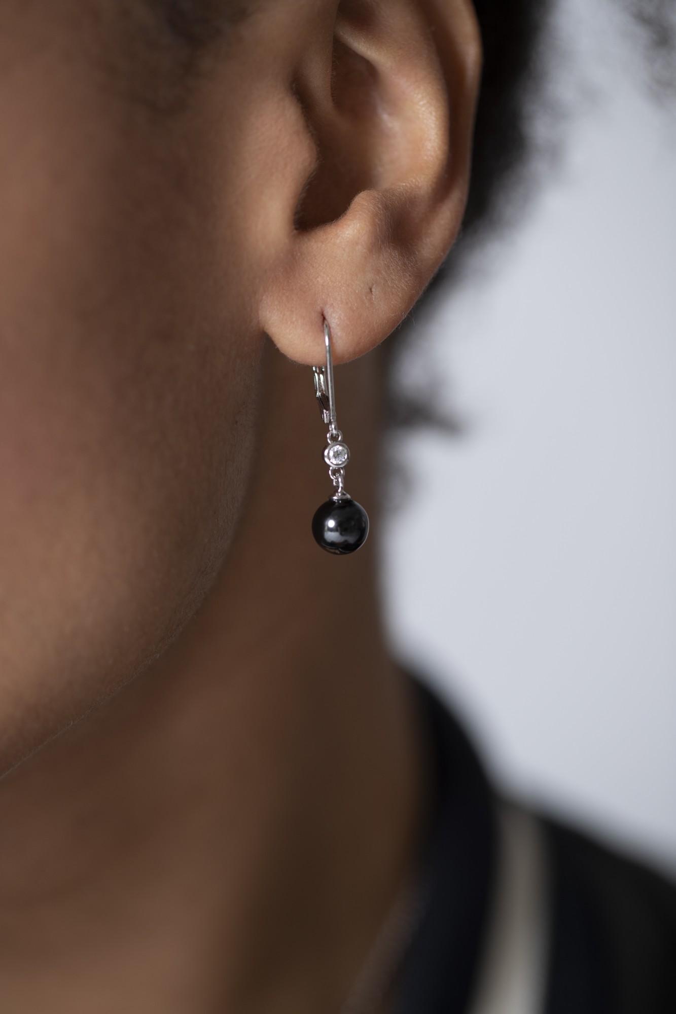 Boucles d'oreilles argent 925 millièmes rhodié Femme CERANITY