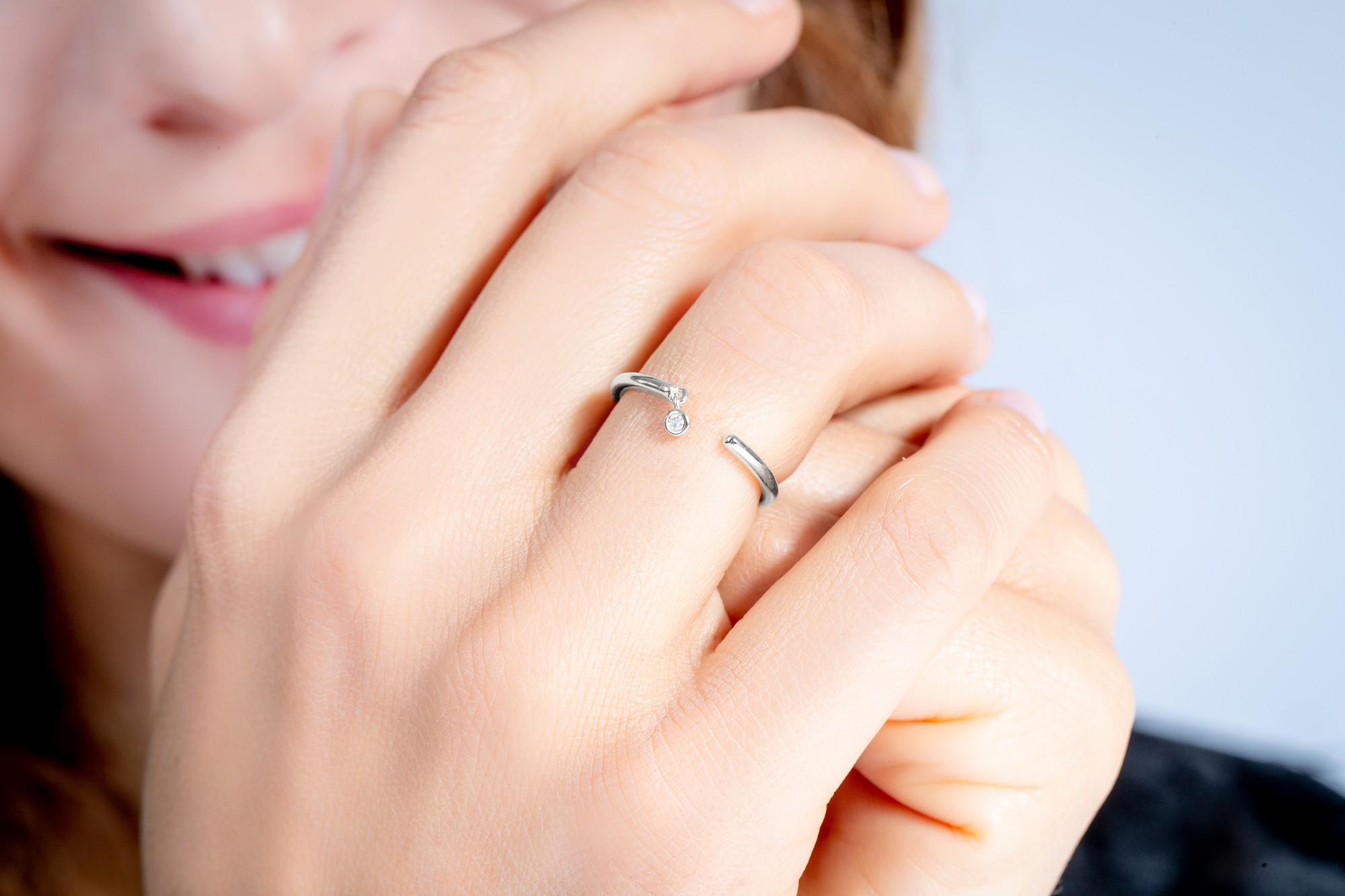 Bague argent 925 millièmes rhodié Femme La Garçonne Diamant
