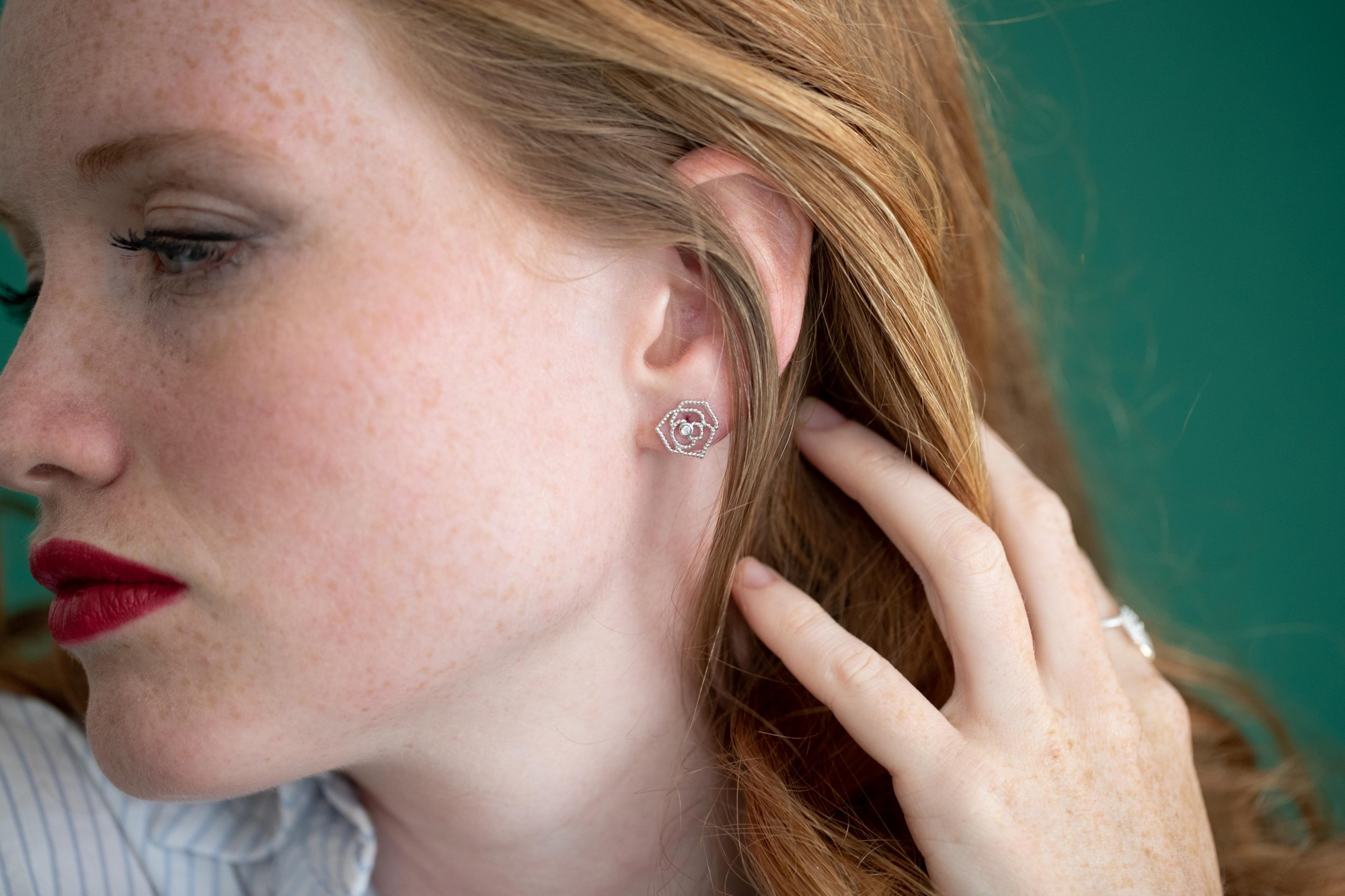 Boucles d'oreilles Argent Femme La Garçonne Diamant