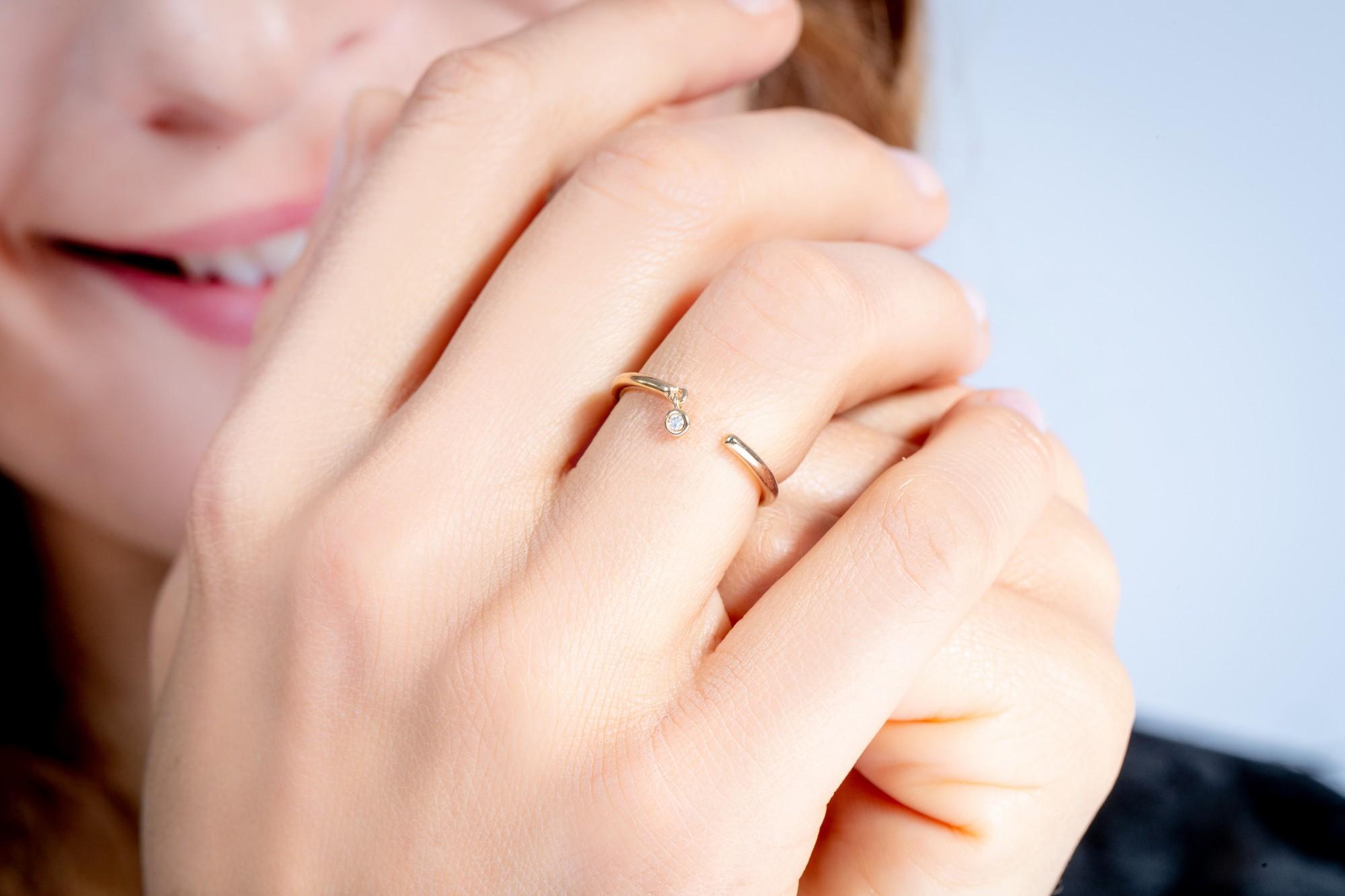 Bague plaqué or 750 millièmes Femme La Garçonne Diamant