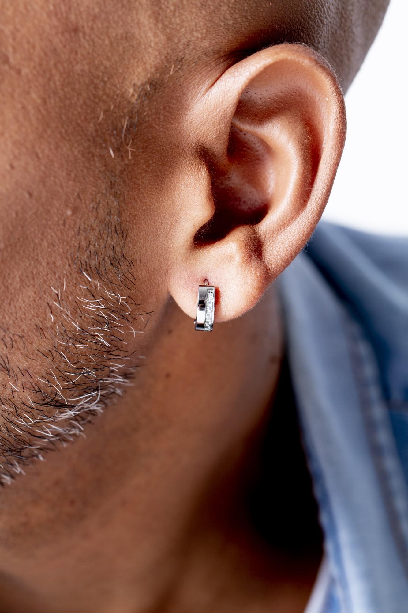 Boucles d'oreilles acier 316L Homme PHEBUS pour #Lui
