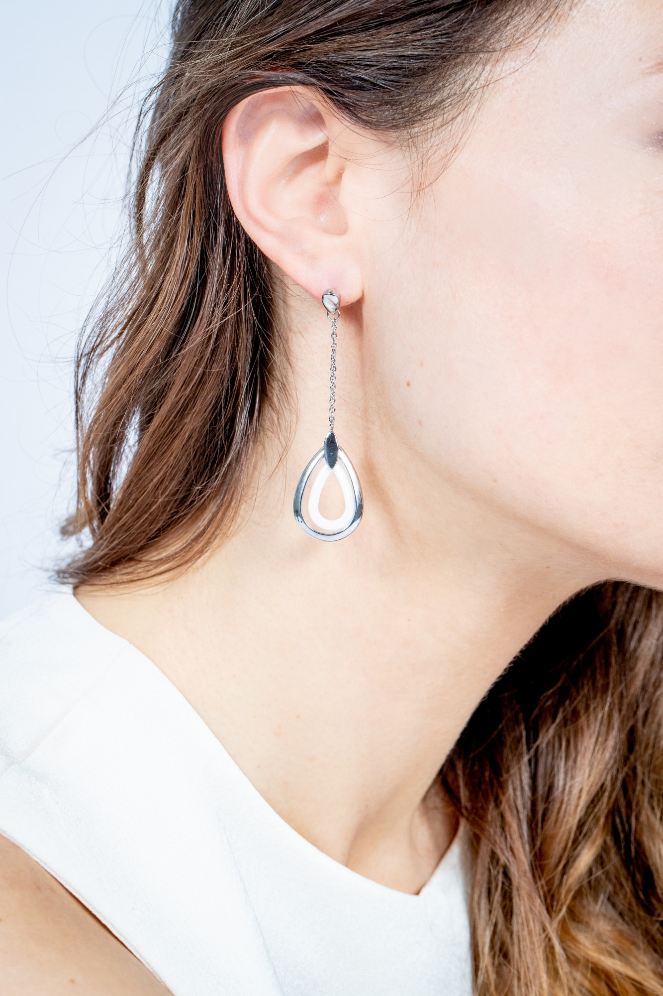 Boucles d'oreilles acier 316L Femme CERANITY
